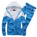 Новый дизайн бесплатная доставка мужчины спортивный костюм досуг slim fit спортивная одежда set толстовки костюм бесплатная доставка