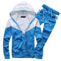 Newest design free shipping men  tracksuit leisure slim fit sportwear set hoodies suit free shipping