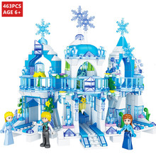 463Pcs Lainio Snow Village Castle Building Blocks Sets Christoph Princess LegoINGs Friends Bricks Toys for Girls Christmas Gifts