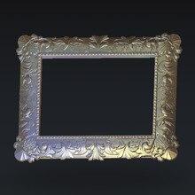 digital file photo frame 3d model relief for cnc in STL file format F135