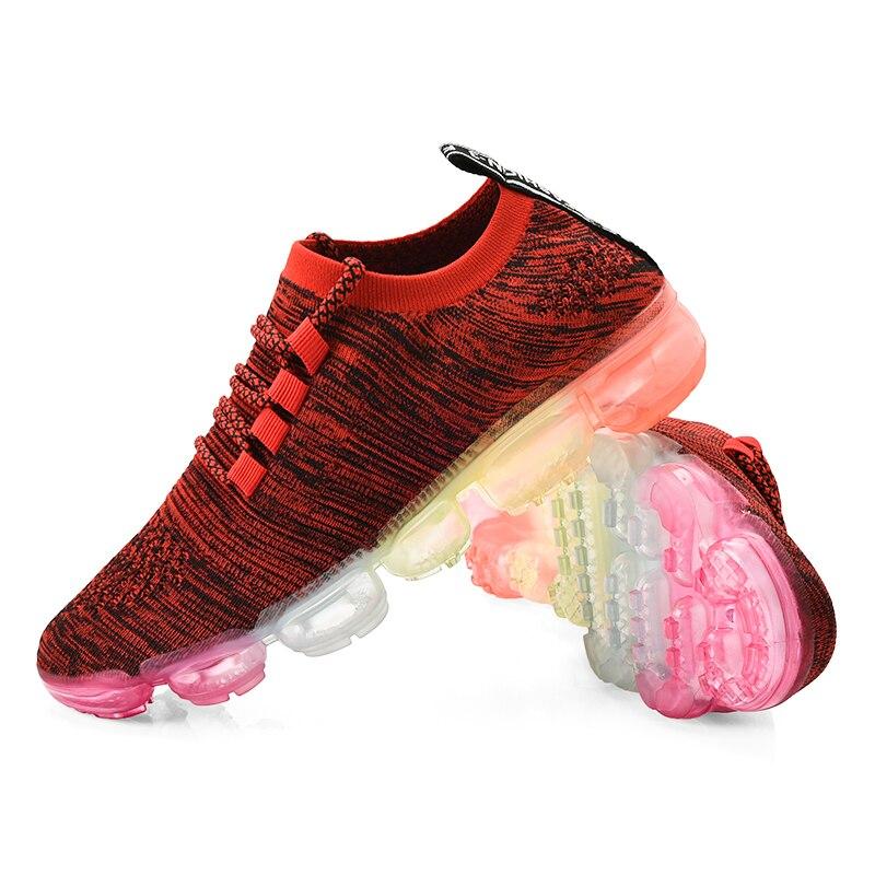 Respirant hommes chaussures de course Zapatillas baskets athlétiques rouge noir sport coussin d'air Vapormax plein Air Jogging marche baskets
