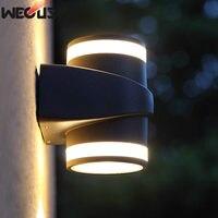 Novo design patenteado luz de parede  ao ar livre à prova dwaterproof água moderna led arandela interior  cabeça dupla 6 w AC85-265V