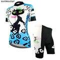 Женский синий комплект из джерси и шорт для велоспорта Pro Girl  велосипедная одежда с коротким рукавом для велоспорта  топ для команды MTB  одежд...