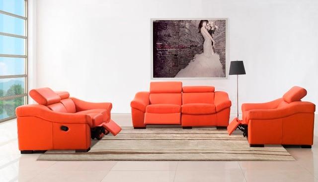 vera pelle divano del soggiorno set mobili/soggiorno divano ... - Soggiorno Foto Mobili 2