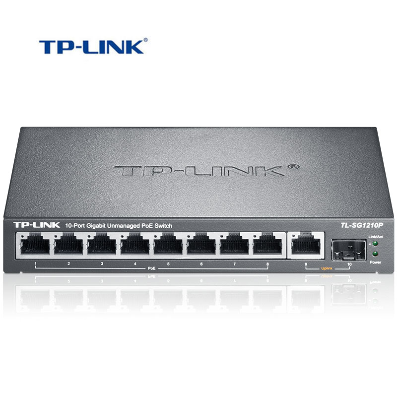 TP Link 8 port Gigabit POE Ethernet switch 1 port independent Gigabit SFP Internet switch POE