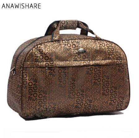 3f1349e9b538 ANAWISHARE 2018 женские дорожные сумки большой емкости мужские багажные дорожные  сумки непромокаемые нейлоновые дорожные сумки для