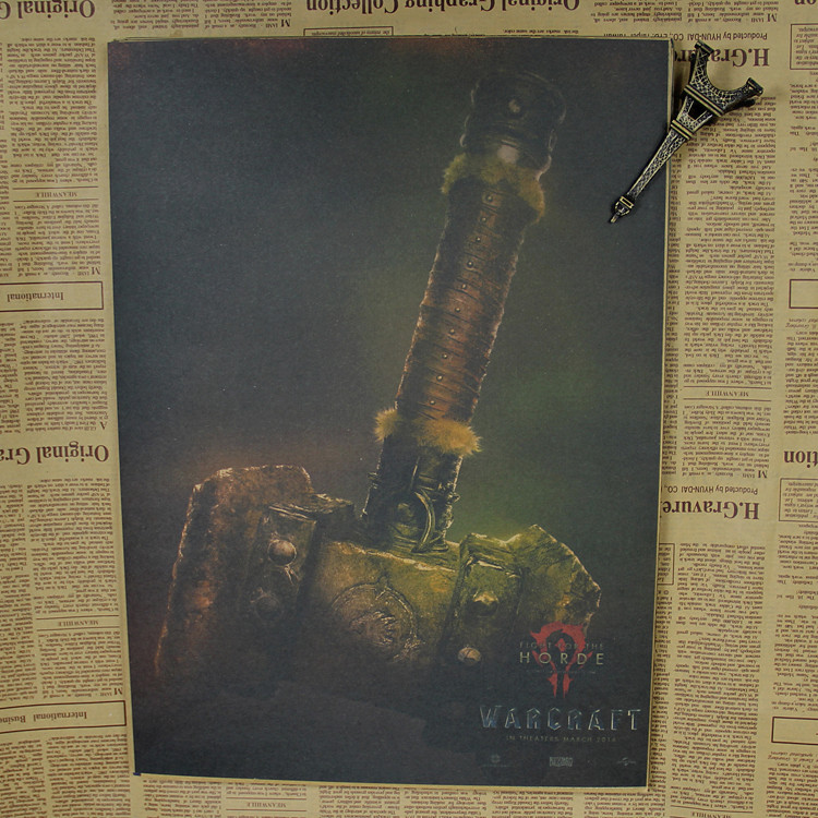 WOW Movie Poster Hidden Works Horde Union Photo WOW/wall sticker /Kraft Poster