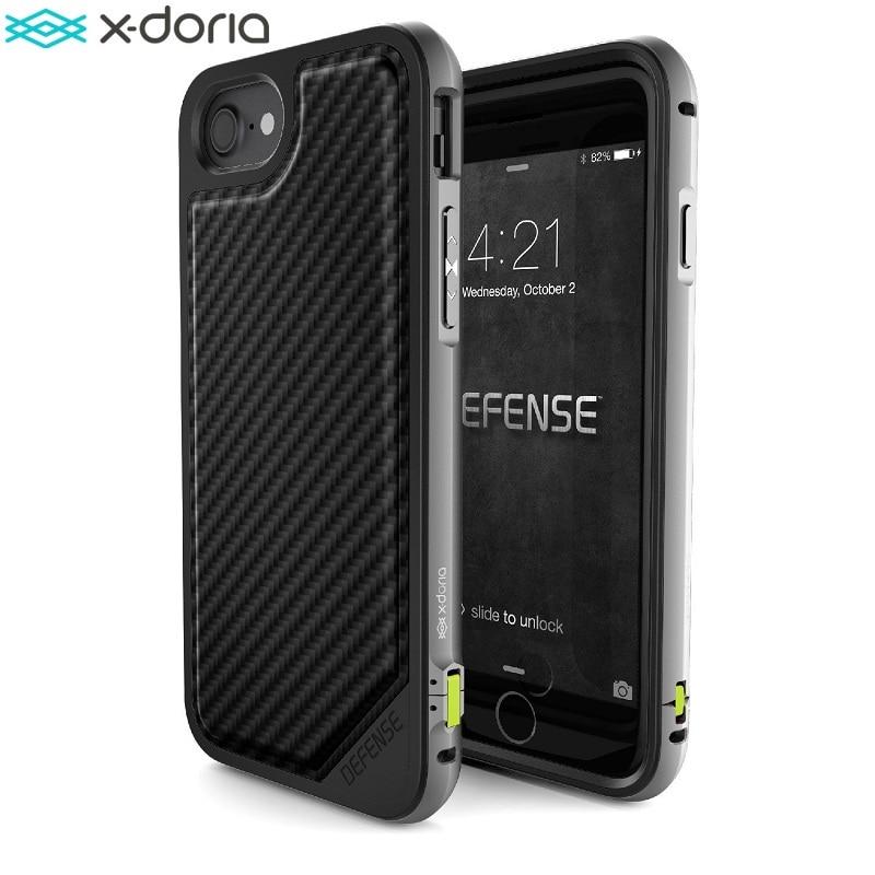X Doria Case for iPhone 7 Defense Lux Military Grade Drop Tested TPU Aluminum Premium iPhone7