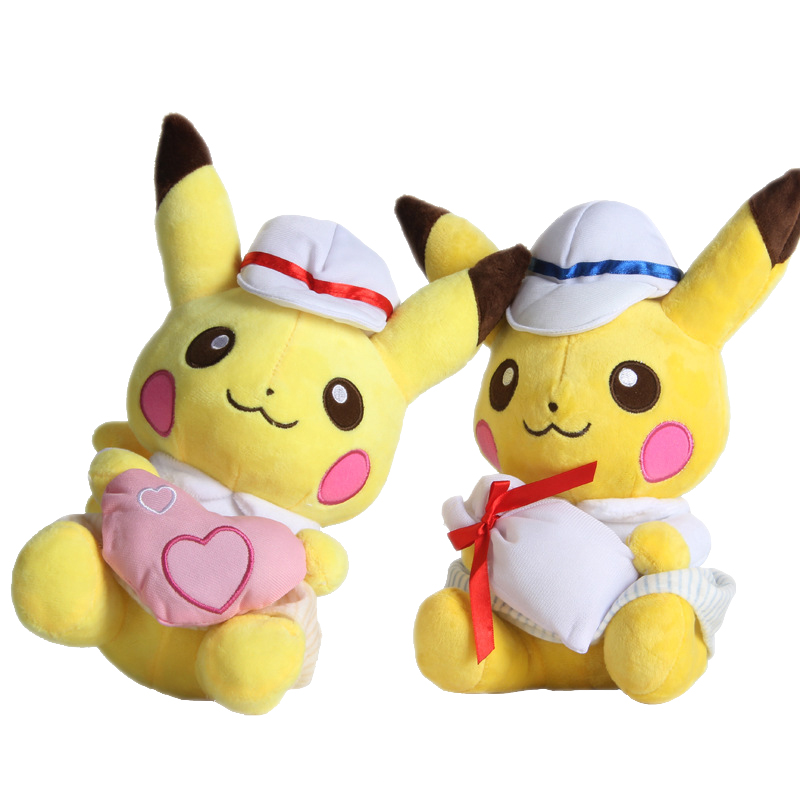 Cute Pikachu Plush Cosplay Love Cloth Bag Doll Soft Movies Toys For Girlfriend Gift Festival New Year Christmas Present