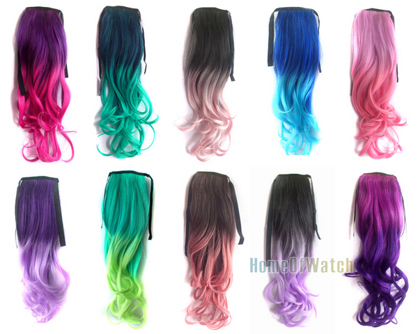 Purple and black hair extensions choice image hair extension aliexpress buy fashion green to light green curly ponytail aliexpress buy fashion green to light green pmusecretfo Choice Image