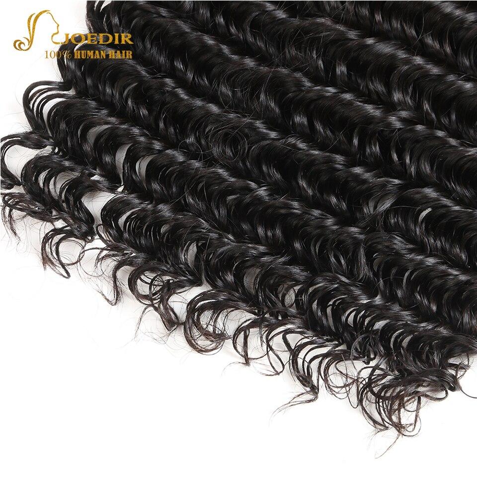 Joedir Deep Wave Human Hair Bundles Med 360 Spets Frontal 3 Bundlar - Skönhet och hälsa - Foto 5