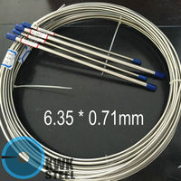 Seamless Stainless Steel Tube 316L Auto Industry Brake Fuel Bundles Lines Size OD 1 4 WT