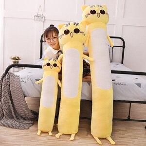 Image 3 - 90 165 センチメートル大サイズのおもちゃかわいい黄色の猫pllowソフトクッションぬいぐるみ猫ぬいぐるみクリスマスギフト子供のための