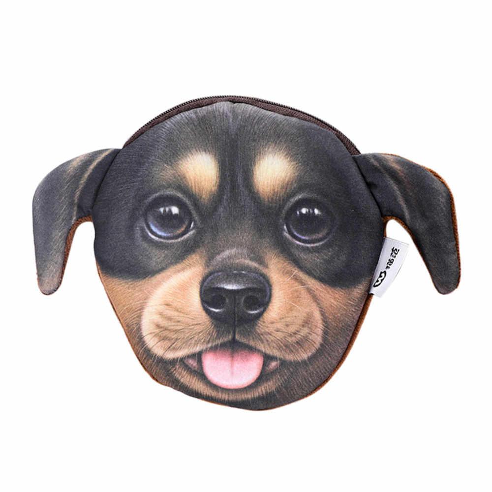 الكرتون الكلب صغيرة المحفظة مع سستة للفتيات الفتيان عملات بطاقات الائتمان الاطفال المال تخزين حقيبة # TX4