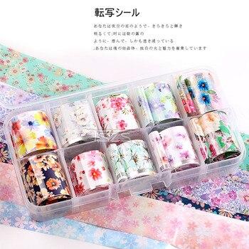 1set/lot 2.5*100cm Butterfly Spring Mix Flower Starry Sky Nail Foils set Transfer Sticker DIY Manicure Decoration Decals