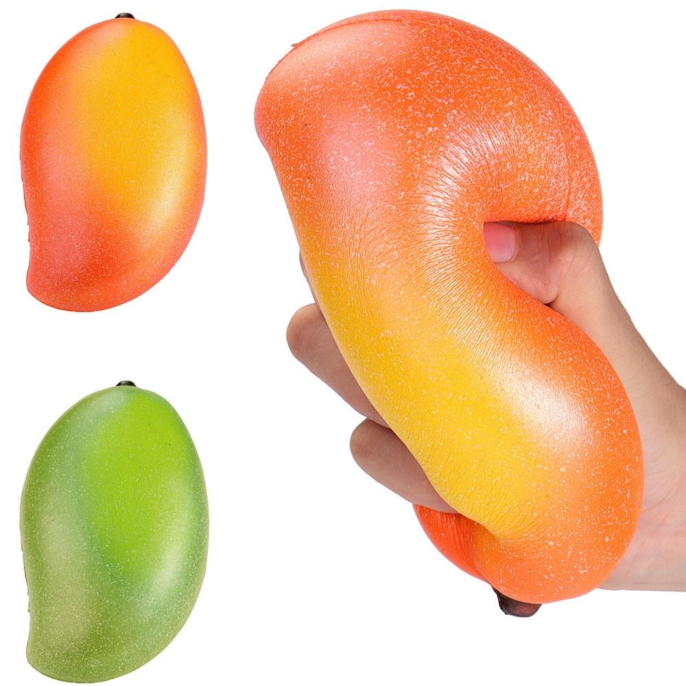 16cm Cute Soft Mango Fruit PU Simulation Jumbo Bread Squishy Slow Rising Adults Kids Anti stress toys Scented Squishy Toys