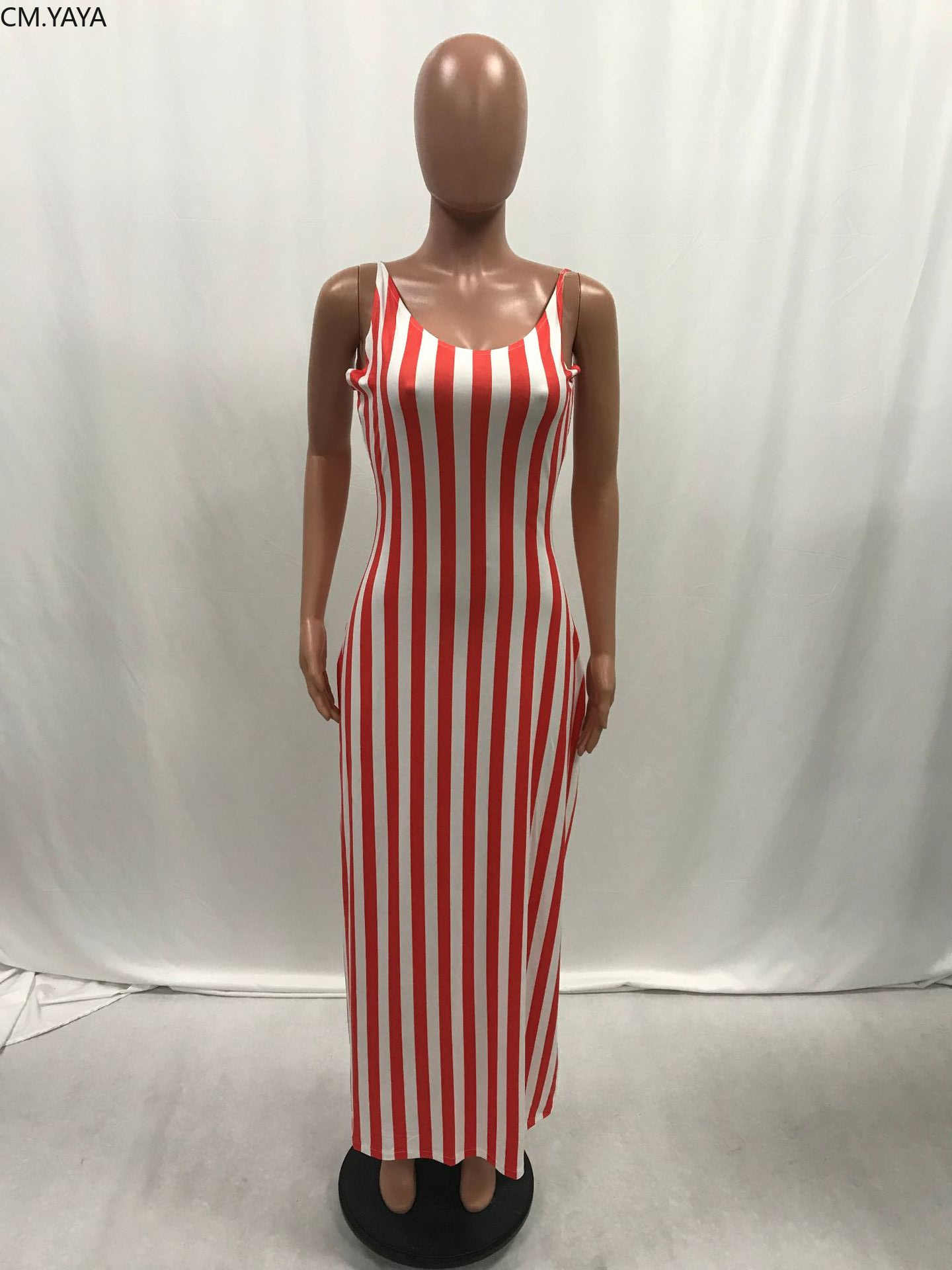 2019 женское летнее платье в полоску без рукавов, свободное модное макси платье, повседневные длинные платья в стиле ретро, уличная пляжная одежда, vestidos GLL038