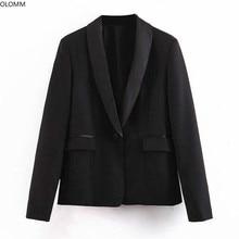 Women's jacket casual temperament Slim professional black suit blazer women 2019 autumn new women's clothing adogirl women suit black casual blazer