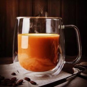 Image 4 - Heat resistant Double Wall Glass Cup Beer Coffee Cup Handmade Creative Beer Mug Tea Cup Whiskey Glass Cups Drinkware