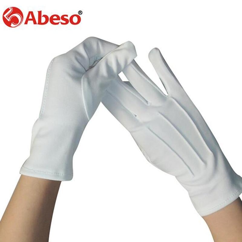 ABESO 10 Par Hvid dacron Ceremonielle handsker driver Magiker Server - Sikkerhed og beskyttelse - Foto 2