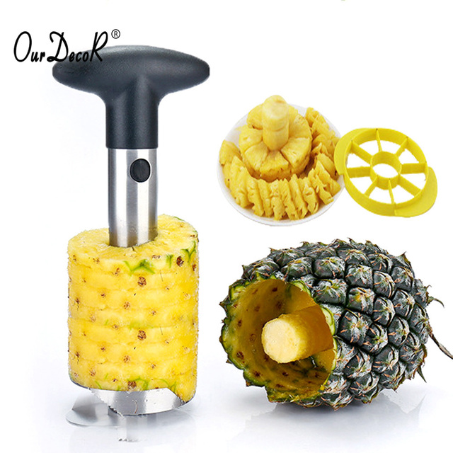 Upgrade Stainless Steel Pineapple Peeler Fruit Corer Cookie Cutter Kitchen Tools and Cooking Kitchen Accessories Kitchen Knives