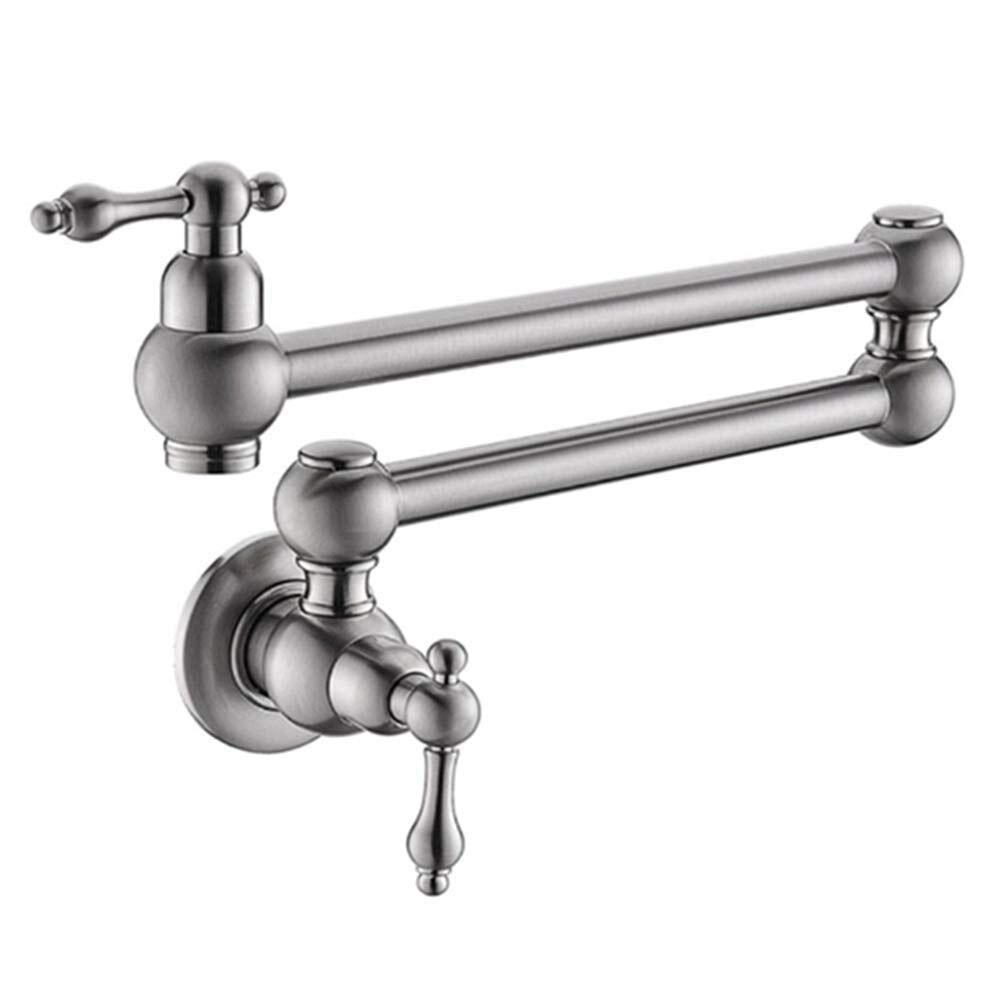 Support mural Pot de remplissage robinet pliant laiton chrome extensible Double Joint bras oscillant robinet de cuisine