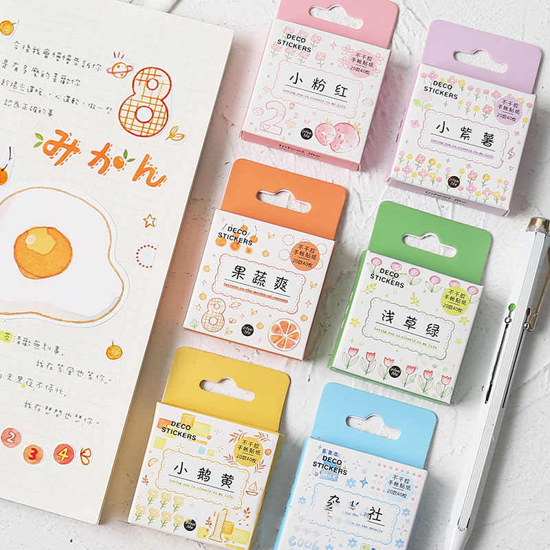 Mohamm Good Life Series Kawaii Cute Sticker Custom Stickers Diary Stationary Flakes Scrapbook DIY Decorative Stickers