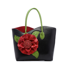 2017 vintage national trend three-dimensional flower bag women's handbag cross-body female bag big Chinese style bags