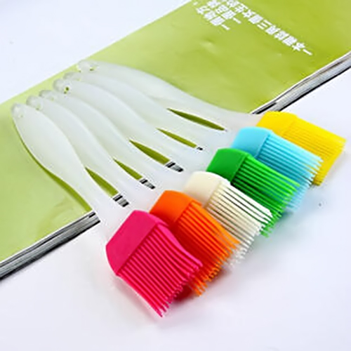 Heat Resisting Silicone BBQ Basting Oil Brush High Temperature Resistant Cleaning Barbecue Baking Cooking P0.2