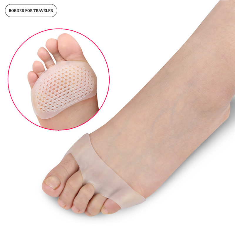 BORDER FOR TRAVELER Silicone Gel Insoles Forefoot Pad High Heel shock Absorption Anti Slippery Feet Pain Health Care Shoe Insole