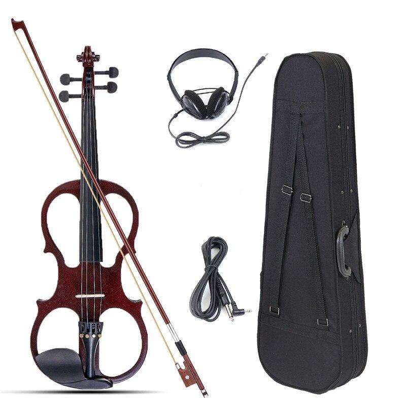 4/4 elektrische Akustische Violine Linde Geige mit Violine Fall Abdeckung für Musical Saiten Instrument Liebhaber Anfänger