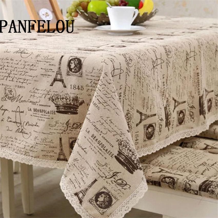 Attrayant PANFELOU Mediterranean Style Cream Colored Poetry The Eiffel Tower Kitchen Table  Cloth Tea Table Cloth Cover Towel Cloth In Tablecloths From Home U0026 Garden  ...