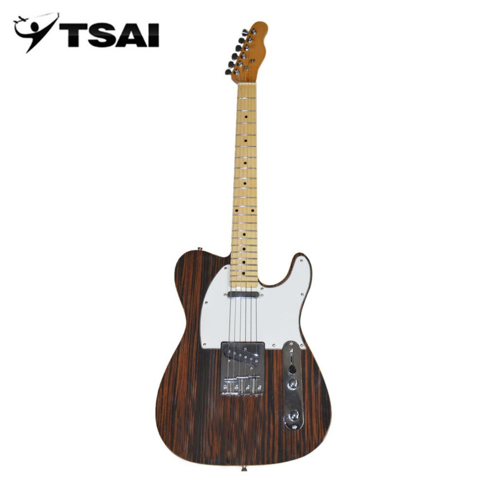 TSAI Ship from USA Electric Guitar with Wood Grain Pattern Basswood Body Maple Neck And Fingerboard 22 Frets Guitar Popular