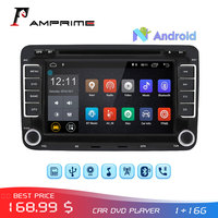 AMPrime 2 Din Car DVD Player Android Car Radio GPS Navigation Audio Stereo Multimedia player Autoradio For Golf 6/Golf 5/Passat