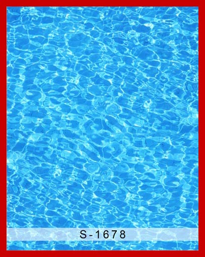 Custom vinyl cloth swimming pool blue water wave photography backdrops for baby children photo studio portrait backgrounds