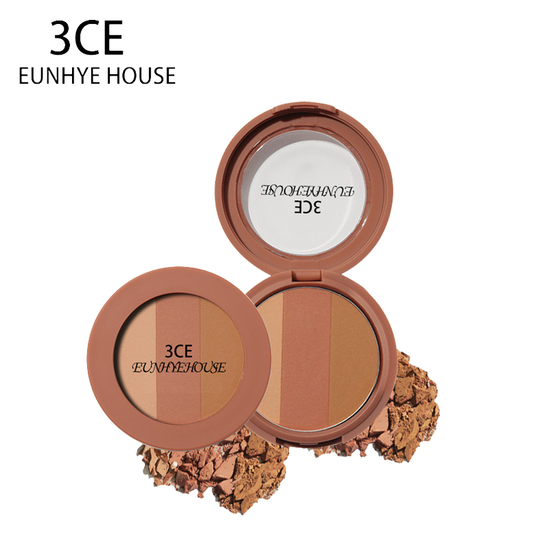 3CE EUNHYE HOUSE Brand Makeup Eye Shadow 3 Color Shimmer red wine Shimmer Pearl earth Matte