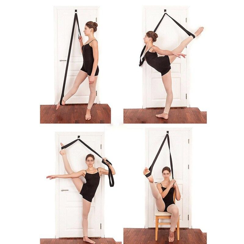 Sport Yoga réglable porte supérieure jambe nouvelle sangle de Yoga Tension bande extensible ceinture avec coton multi-fonction Yoga ceinture corde