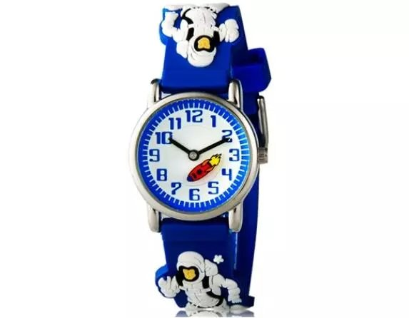 WILLIS waterproof 3D Cartoon astronauts Design Analog Wrist Watch Children clock / kid Quartz Wrist Watches north little boys girls children wrist kids watches cartoon 3d dolphin design analog band 30m waterproof blue