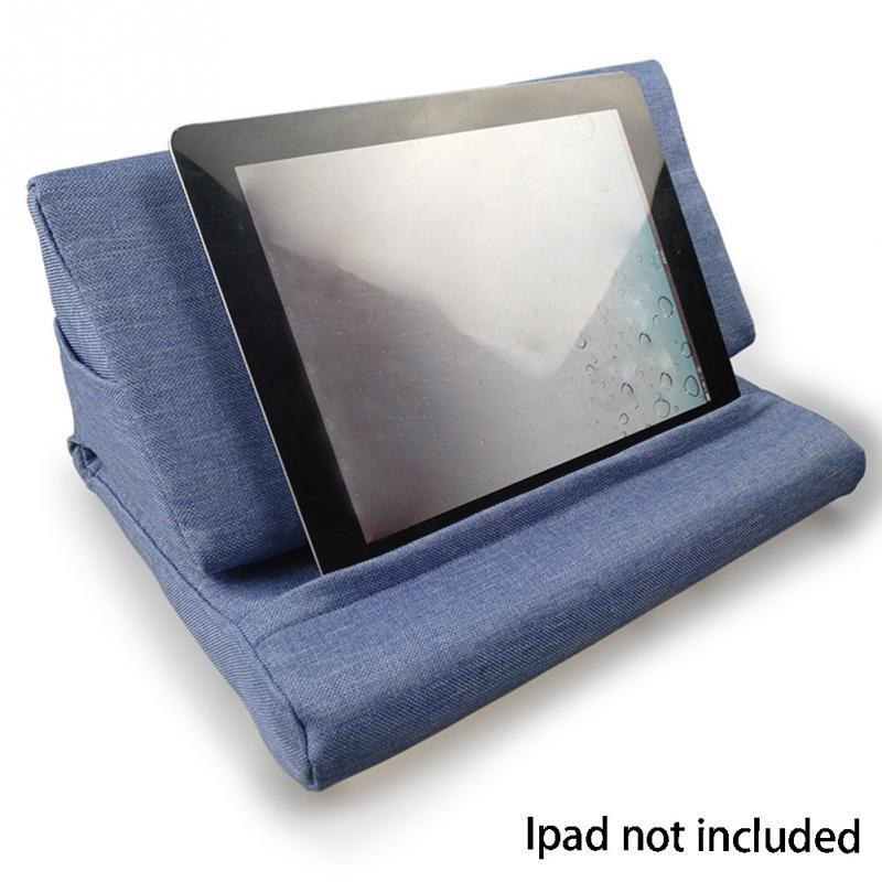 Multifunções Portátil Travesseiro Tablet PC Tablet Fique Segurando Titular Elegante bloco de Resfriamento Almofada de Descanso Travesseiro de Espuma de Volta para Ipad