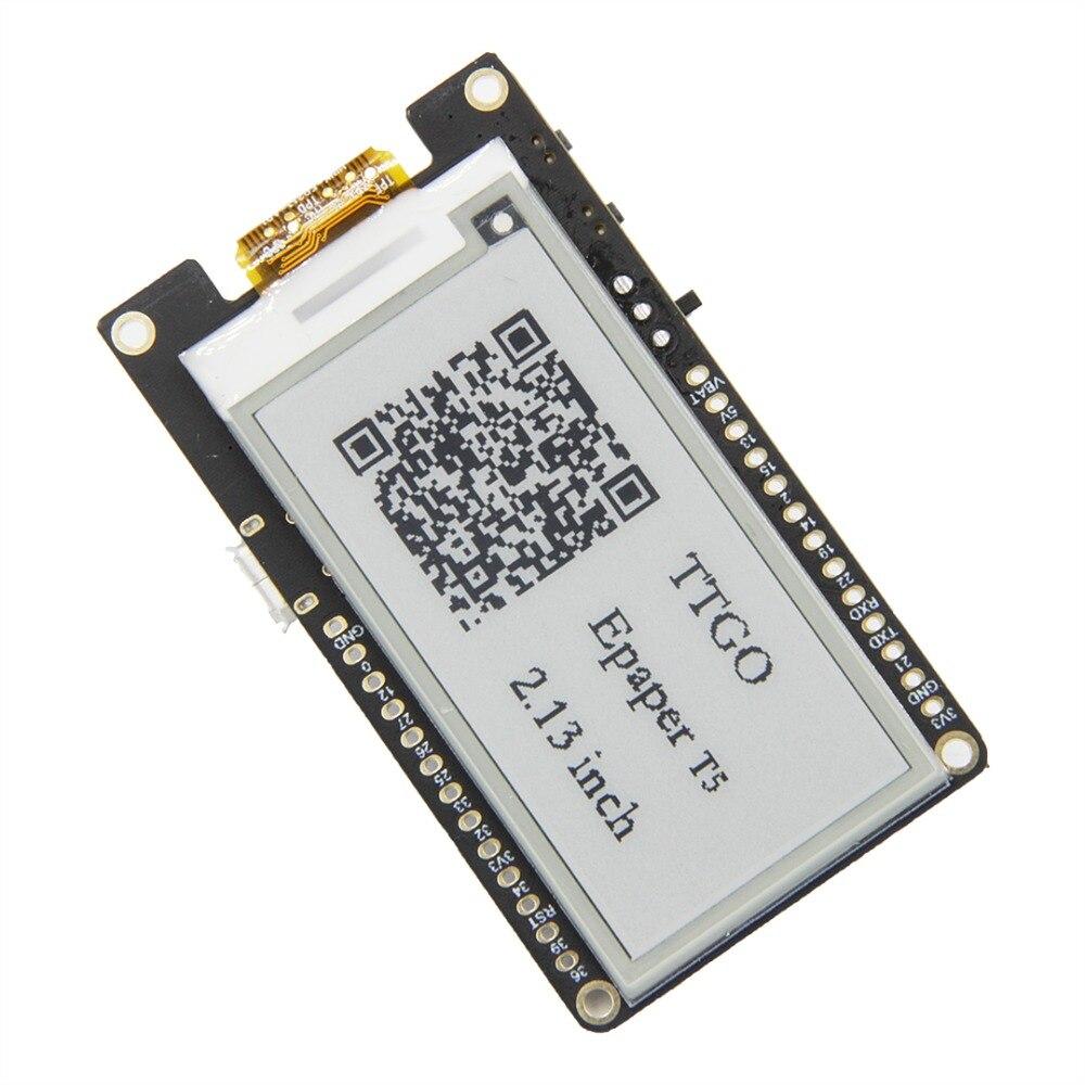 T5 V2.0 TTGO WiFi módulo inalámbrico Bluetooth Base ESP-32 ESP32 2,13 ePaper de pantalla Placa de desarrollo