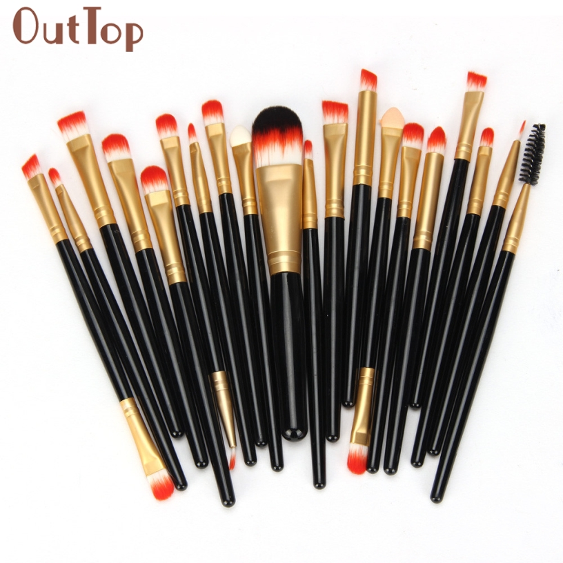 OutTop Pretty New Good Quality 15 Colors Contour Face Cream Makeup Concealer Palette Professional + 20 BRUSH Gift  casio sheen she 3029pgl 7a