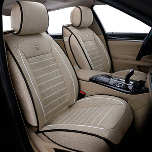 Image 3 - Универсальные льняные чехлы на автомобильные сиденья для Toyota Corolla Camry Rav4 Auris Prius Yalis Avensis SUV Автомобильные аксессуары Автомобильные палочки автомобильные сиденья
