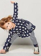 Twin Girl Bunny Dress and Legging Set