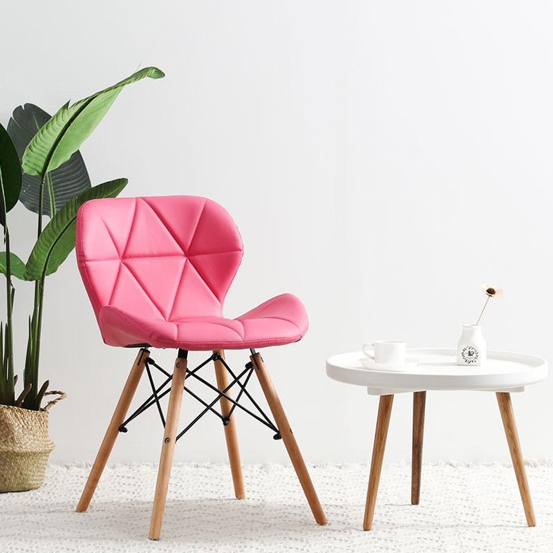 Современный минималистичный стол компьютерный стул домашний Ресторан обеденный стул из твердой древесины скандинавский диван спинка макияж пляж - Цвет: I