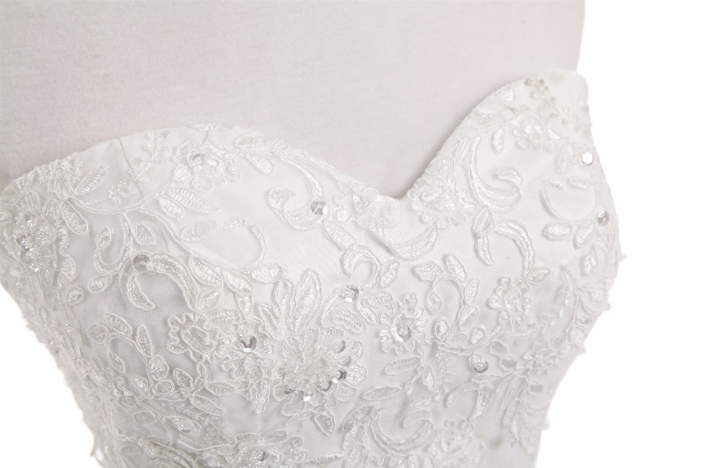 White/ivory Chiffon Embroidery Beach A-line Wedding Dress