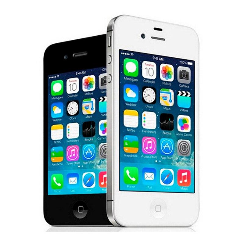 Apple iphone 4S, telefone celular, original, desbloqueado de fábrica, dual core, 16gb/32gb/64gb, câmera 8mp telefone gps 3.5 ''touchscreen usado 2
