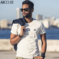 AK CLUB Men T-shirt Cuba National Flag Embroidery T Shirt Boutique Collection Short Sleeve T Shirt O-Neck Top Tee Casual 1700051