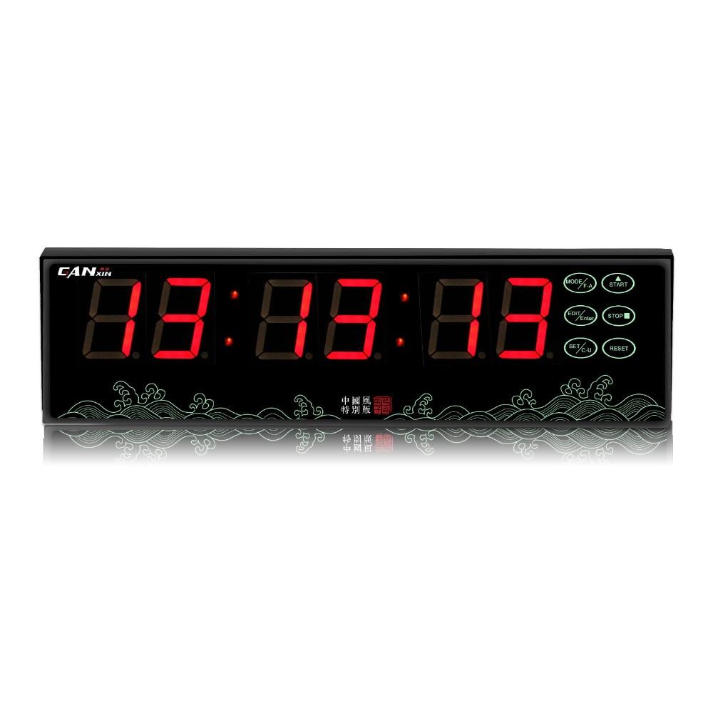 [GANXIN] battery powered led digital alarm clock stopwatch segment display wall clock