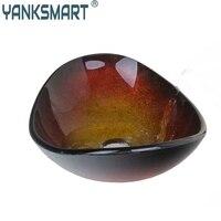 Ingot Shape Basin Sink Tempered Glass Vessel Vanity Bathroom Washbasin Bar Pia Bacia Luxury Bath Basin