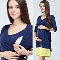 Emoção mães vestidos de roupas de moda de maternidade maternidade amamentação para as mulheres grávidas roupas de enfermagem gravidez dress